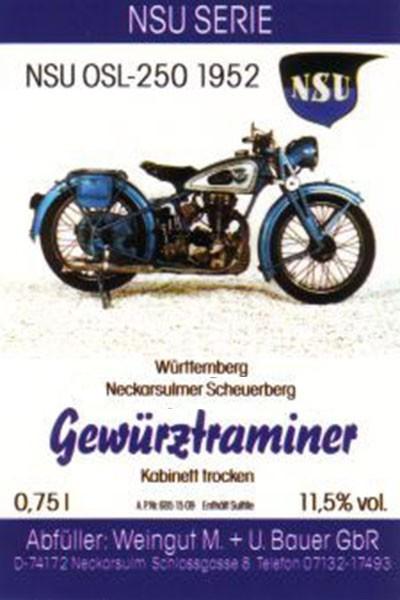 NSU OSL-250 1952 - 2016 Gewürztraminer Kabinett trocken 750ml