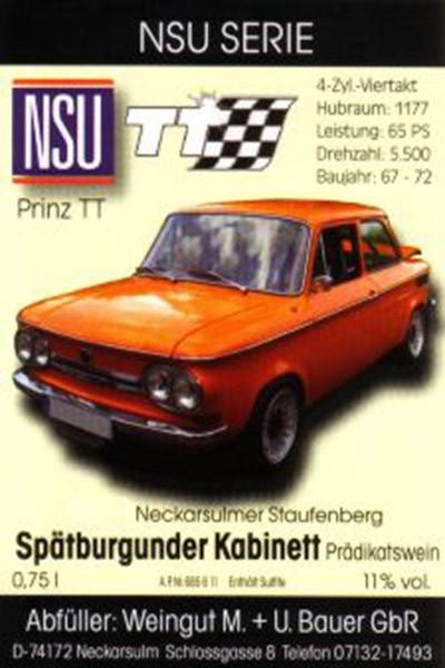 NSU Prinz TT 1967 - 2015 Spätburgunder Weißherbst Kabinett 750ml