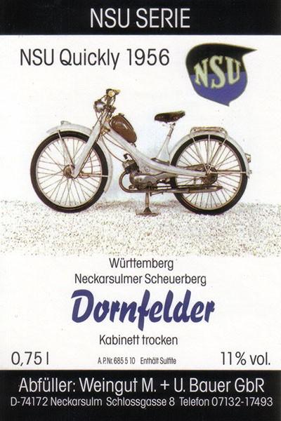 NSU Quickly 1956 - 2015 Dornfelder trocken, 750ml