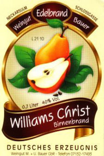 Williams Christ Birnen Edelbrand 700ml