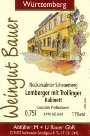 2017 Lemberger mit Trollinger Kabinett