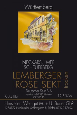 2014 Lemberger Rosé Sekt 750ml