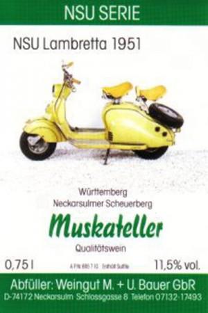 NSU Lambretta 1951 - 2015 Muskateller halbtrocken 750ml