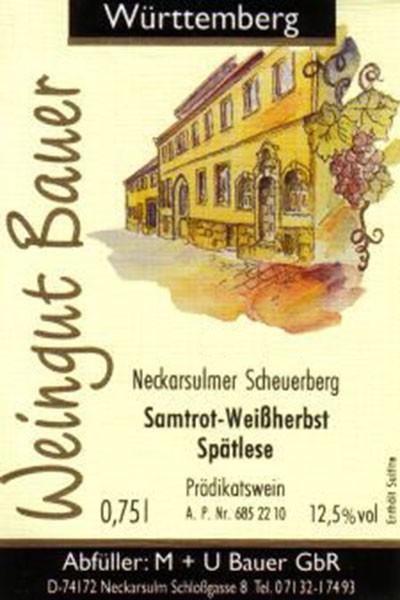 2012er Samtrot Weißherbst Rosé: Spätlese