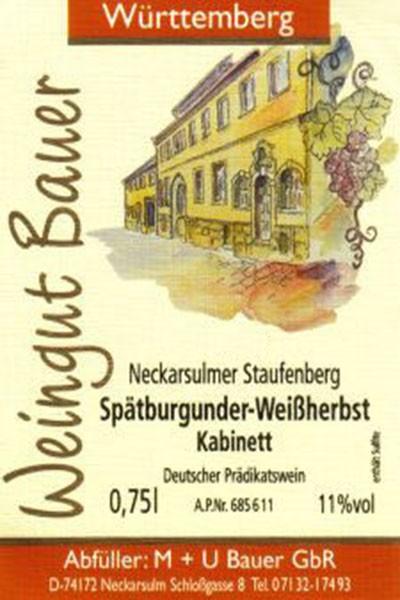 2012er Spätburgunder Weißherbst, Kabinett, 0,75 Liter Flasche