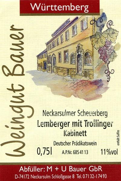 2012er Lemberger mit Trollinger Kabinett