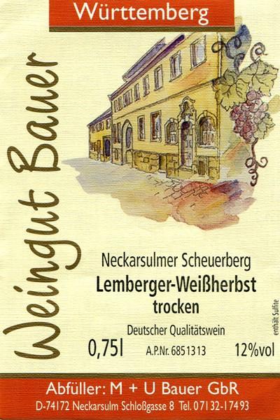 2012er Lemberger Weißherbst trocken