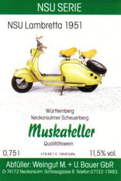NSU Lambretta 1951 - 2012er Muskateller