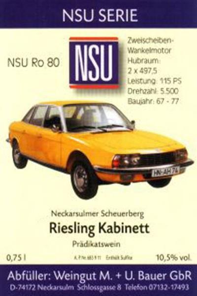2012er Riesling - NSU Ro 80 1968 Kabinett, 0,75 Liter Flasche